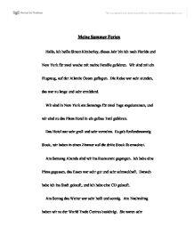 Meine sommerferien essay writer