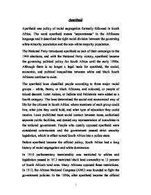 south african apartheid essay