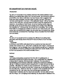 behaviorism essay gcse psychology marked by teachers com memory experiment