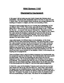 teaching about discipleship 2 essay Table of contents introduction to paul's life p1 application of the biblical model for discipleship in paul's ministry p1-3 the biblical model for discipleship - essay paul urges the philippians here to start their walk with god by teaching their hearts and minds to get to.