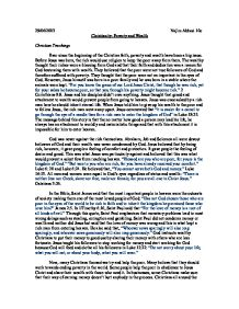 christianity research paper