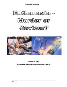 Euthanasia should be legal?