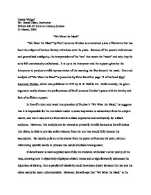 Essays About Health We Wear The Mask By Paul Laurence Dunbar Is  How To Stay Healthy Essay also Analysis Essay Thesis Example With The Poem Still I Rise By Maya Angelou She Describes The  Teaching Essay Writing High School