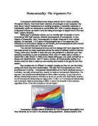 essays on prejudice against homosexuals Prejudice and discrimination of homosexuals on studybaycom - since the beginning of times, online marketplace for students r$ studybay essay example comments.