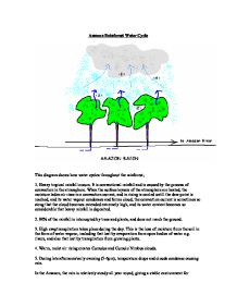 amazon rainforest water cycle gcse science marked by teachers com page 1 zoom in