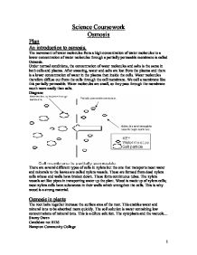 as level biology coursework osmosis Help with a level biology coursework  coursework osmosis help write my biology wikibiology coursework to coursework my independent variable beetroot experiments.