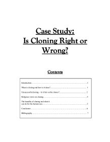 Is Cloning Right or Wrong