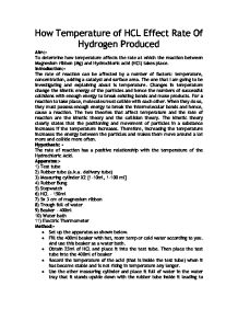 hcl and mg ib lab report