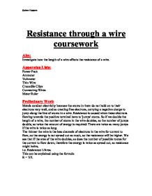 resistance of a wire coursework essays