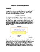 how the area of a wire affects the resistance in a circuit essay