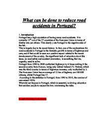 Reduce road accidents essay