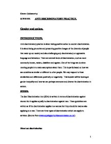 anti discriminatory practice 2 essay Anti-oppressive practice is a piece of social work jargon, but is based on a very  simple yet important idea social work is all about empowering.