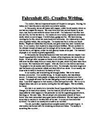 Fahrenheit 451 creative writing gcse sociology marked by