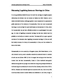 legalization of same sex marriage essay
