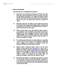 porters 5 forces analysis on air asia management essay The report then would delve into an internal analysis whereby the porter's 5  forces would reiterate the direct forces that would affect the airline.