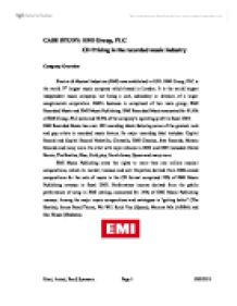 case of emi group plc cd pricing Cd pricing in the recorded music industry case analysis strategic marketing management emi music group was formed in 1931 when gramophone company merges with columbia graphophone to form electric and musical industries (emi 2007.