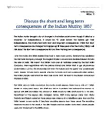 analyze the long term and short term causes of the  discuss the short and long term consequences of the