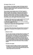 the congress of vienna essay example Vienna convention on diplomatic relations 1961 essay, buy custom vienna  it  is believed that the main purpose of the congress of vienna was to create.