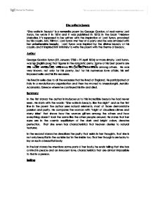 Analysis Of She Walks In Beauty By Lord Byron  International  Page  Zoom In National Honor Society High School Essay also Essay Papers For Sale  Good High School Essay Examples