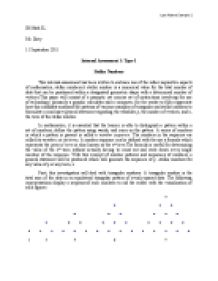 Stellar Number( Math IA)