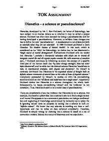 science or pseudoscience essay