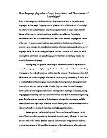 tok essay role of language in areas of knowledge international  page 1 zoom in
