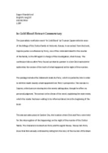 Exemplification Essay Thesis Page  Zoom In Essay On My Family In English also What Is Thesis Statement In Essay In Cold Blood By Truman Capote Extract Commentary  International  Essay Examples English