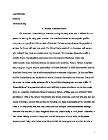 Gatsby essay about american dream - Essay about the great gatsby ...