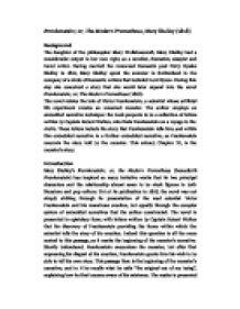 frankestein essay