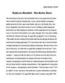 katherine mansfield the garden party the main theme of the text  page 1 zoom in