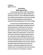 Commentary on Marilyn Krysl's Poem