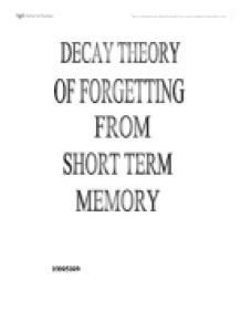 short term memory loss essays Memory quiz: take this bootswebmd quiz to find out how we remember and why we forget find out more about long term memory, short term memory and what happens with memory loss.