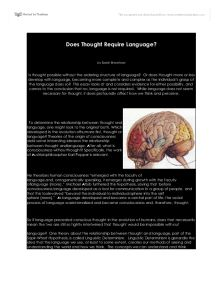 consciousness essay in language philosophical psychology thought