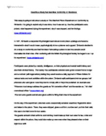 describe a study which investigates either conformity or obedience  page 1 zoom in