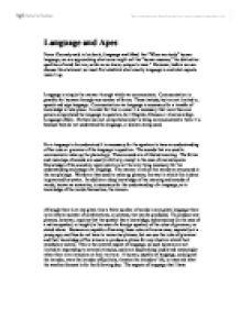 apes essay common language