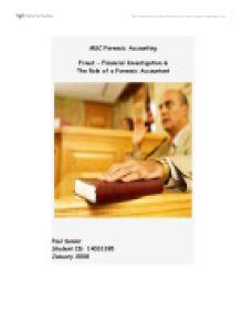 Accounting fraud essay