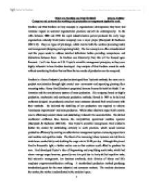 Fordism essay