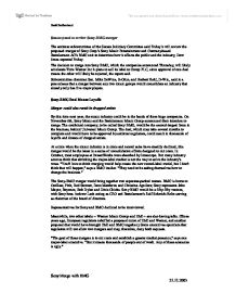 sony and mgm merger essay Acquisition of metro-goldwyn-mayer completed mgm names new senior  management team los angeles, april 8, 2005 -- metro-goldwyn-mayer inc ( mgm).