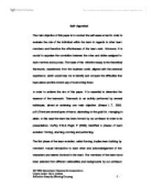 reflective essay on a teamwork task the main objective of this  page 1 zoom in