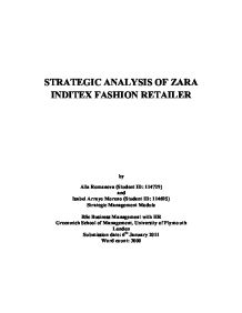 strategic analysis of zara fashion retailer university business  page 1 zoom in