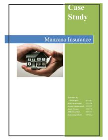 manzana insurance Access to case studies expires six months after purchase date publication date: september 04, 1991 deals with performance assessment and improvement of a service operation in the insurance industry, a market that is highly sensitive to response time.