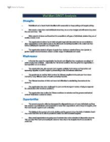 SWOT analysis Wal-mart - University Business and
