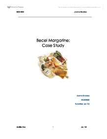 marketing case study becel margarine Unilever canada becel margarine analysis essays: over 180,000 unilever canada becel margarine analysis essays, unilever canada becel margarine analysis term papers,  market analysis for product software marketing case study: becel margarine target market unilever canada becel margarine analysis unilever canada: becel margarine with microsoft and pc's dominating a large majority of the computer market (an estimated 90%), what.