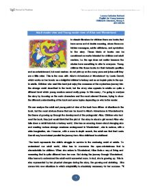 ALICE IN WONDERLAND ESSAY - University Education and Teaching ...