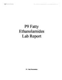 fatty ethanolomides essay He also played tenor saxophone and played briefly with walter johnson's band  in miami apparently fats did not care much for key west [tags: free essays.