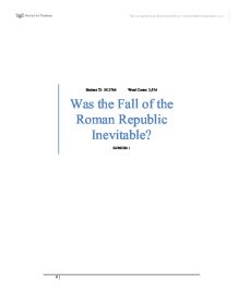 fall about all the roman republic along with correlated essays regarding education