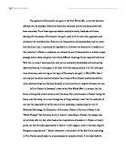Essay on first world war