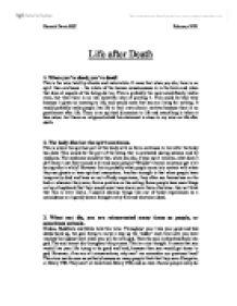 philosophy death essay