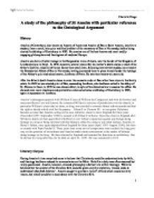 Anselm ontological argument essay