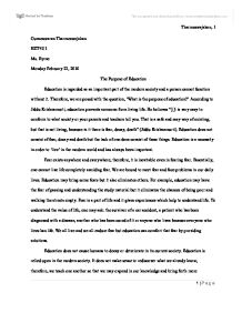 Essay for education